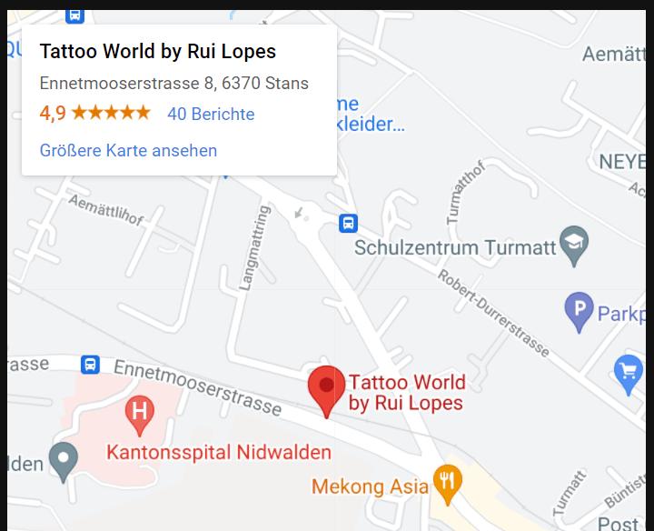 tattoo world google maps