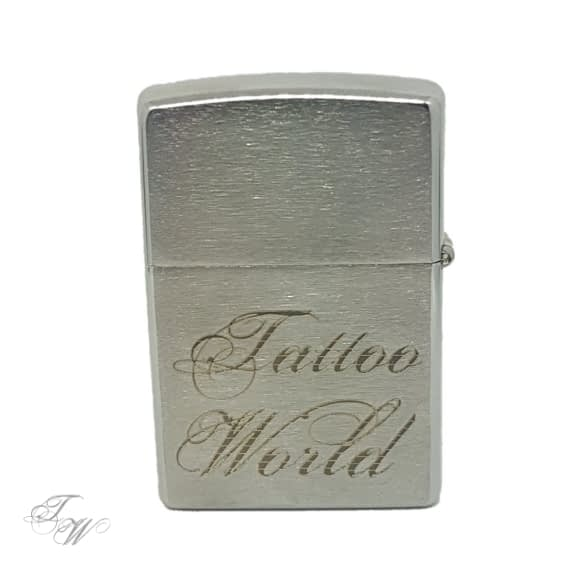 Zippo Silber Tattoo World Merchandise
