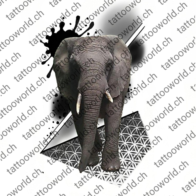 Elefant Geometrisch