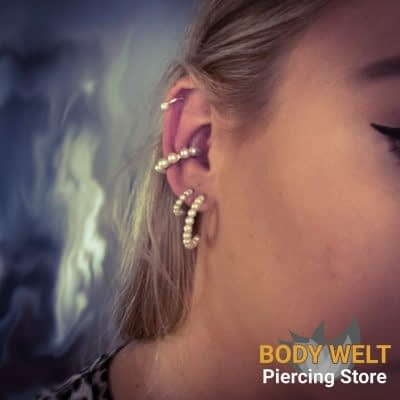 Helix und Ohrenpiercing