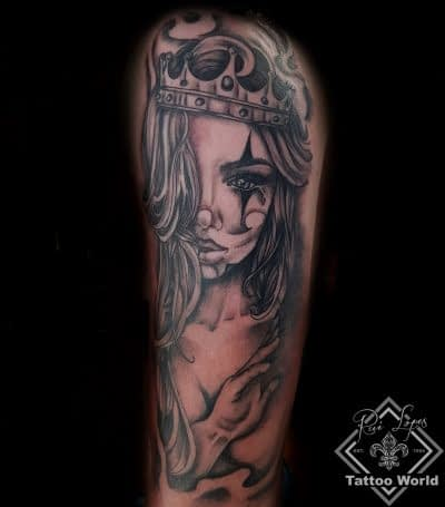 Mexican queen tattoo